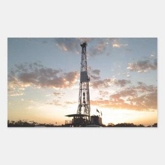 West Texas Drilling Rig Rectangular Sticker