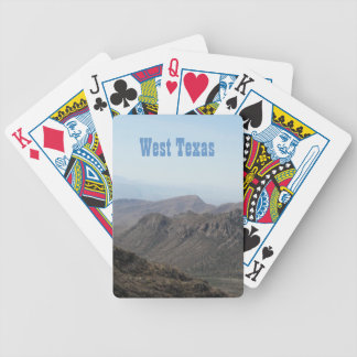 West Texas Landscape Bicycle Playing Cards