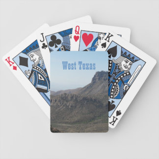 West Texas Mountain Landscape Bicycle Playing Cards