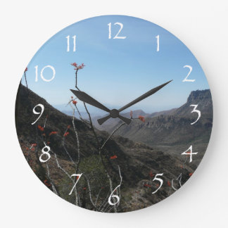 West Texas Mountains Large Clock