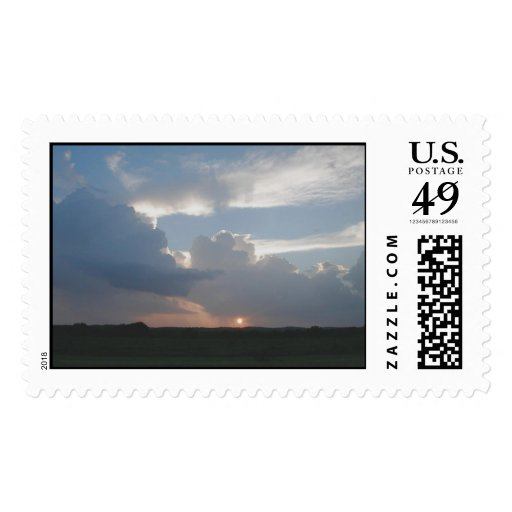West Texas Summer Thunderstorm CLouds Stamp