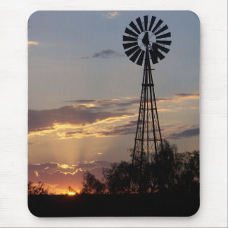 West Texas Windmill Mouse Pad