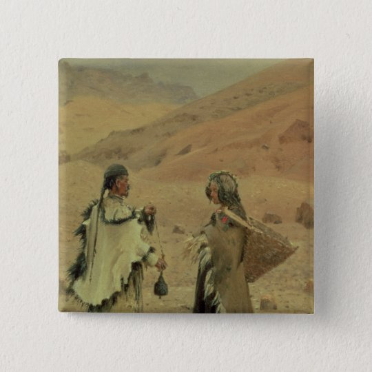 West Tibetans, 1875 Pinback Button