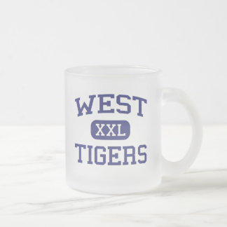 West Tigers Middle School Denmark Tennessee Frosted Glass Coffee Mug