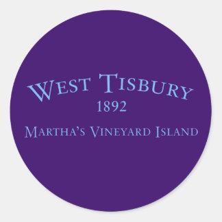West Tisbury Incorporated 1892 Sticker