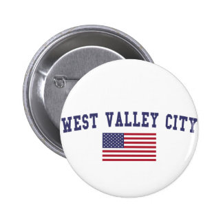 West Valley City US Flag Button