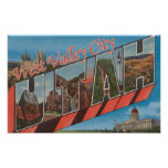 West Valley City, Utah - Large Letter Scenes Posters