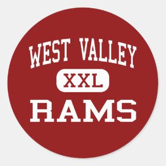 West Valley - Rams - High - Yakima Washington Classic Round Sticker