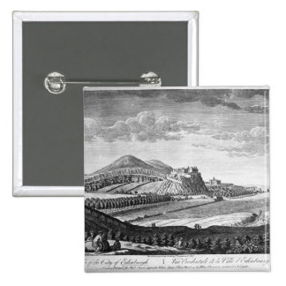 West View of the City of Edinburgh, 1753 Button
