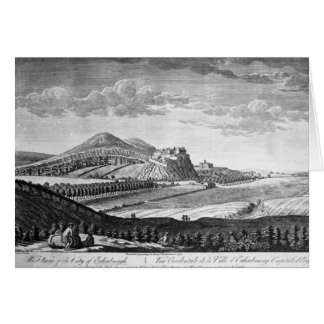 West View of the City of Edinburgh, 1753 Greeting Cards
