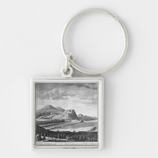 West View of the City of Edinburgh, 1753 Keychain