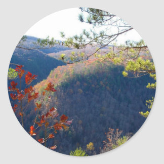 West view of the Pa Grand Canyon.JPG Classic Round Sticker