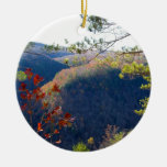 West view of the Pa Grand Canyon.JPG Double-Sided Ceramic Round Christmas Ornament