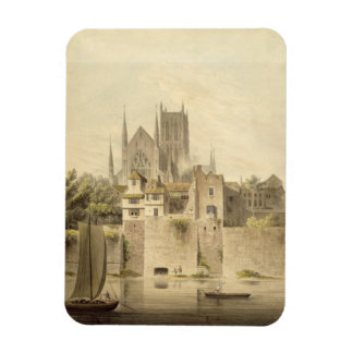West View of Worcester Cathedral, 1798 (w/c on pap Magnet