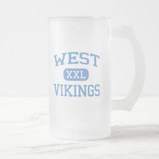 West - Vikings - Junior - Columbia Missouri 16 Oz Frosted Glass Beer Mug