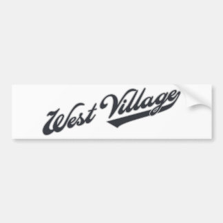 West Village Car Bumper Sticker