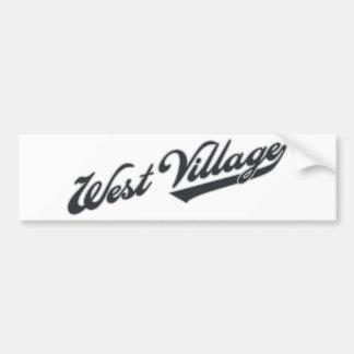 West Village Bumper Stickers