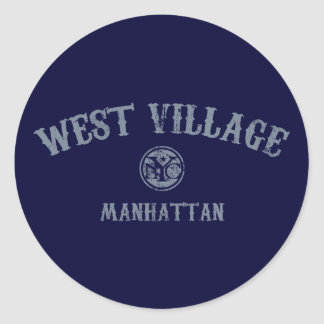 West Village Classic Round Sticker