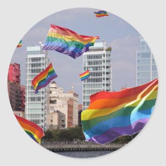 West Village Pride Classic Round Sticker