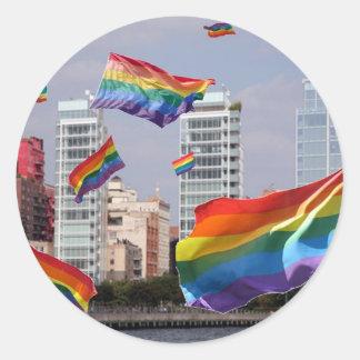West Village Pride Classic Round Sticker