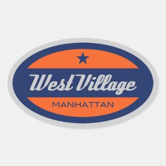 West Village Oval Sticker