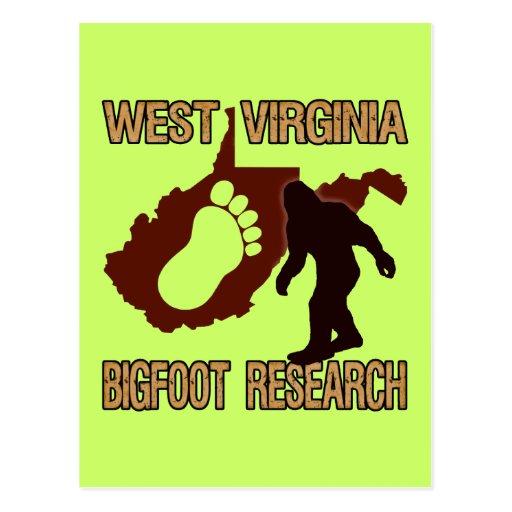 West Virgina Bigfoot Research Postcard