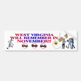 West Virginia  Anti ObamaCare, New Taxes, Spending Bumper Sticker