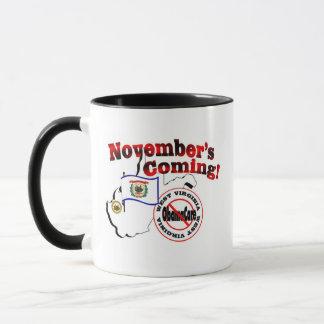 West Virginia Anti ObamaCare – November's Coming! Mug