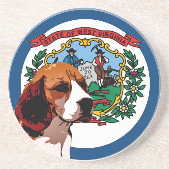 West Virginia Beagle Drink Coaster