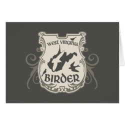 Greeting Card with West Virginia Birder design