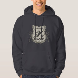 Men's Basic Hooded Sweatshirt with West Virginia Birder design