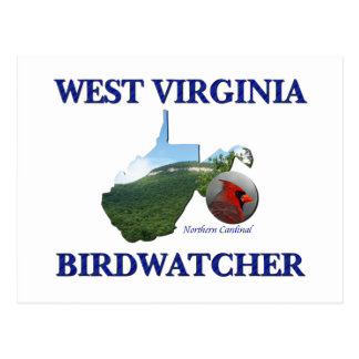 West Virginia Birdwatcher Postcard