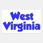 West Virginia Blue Rectangular Sticker