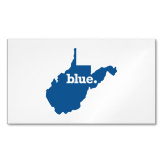 WEST VIRGINIA BLUE STATE MAGNETIC BUSINESS CARD