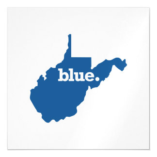 WEST VIRGINIA BLUE STATE MAGNETIC CARD