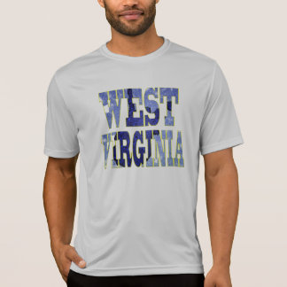West Virginia Blue Text T-Shirt