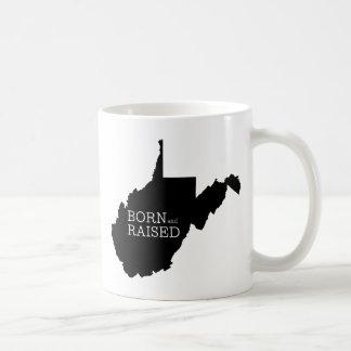 West Virginia Born and Raised Coffee Mug