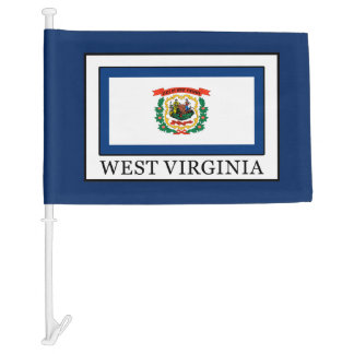 West Virginia Car Flag