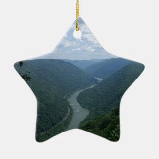 West Virginia Ceramic Ornament