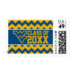West Virginia Class Year - Blue Postage Stamp