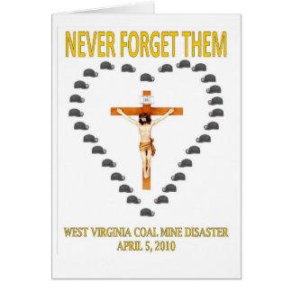 WEST VIRGINIA COAL MINE DISASTER CARD