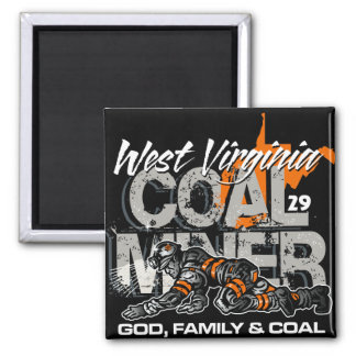 WEST VIRGINIA COAL MINER MAGNET