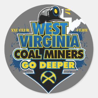 WEST VIRGINIA COAL MINERS GO DEEPER STICKERS