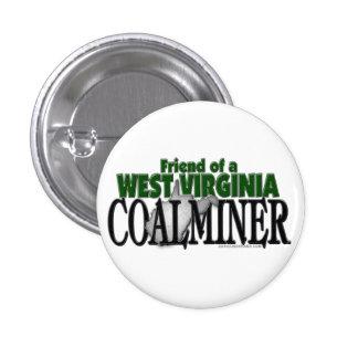West Virginia Coalminer 1 Inch Round Button