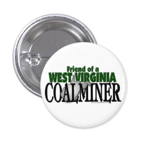 West Virginia Coalminer Pinback Buttons