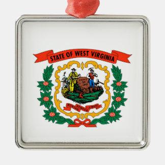 west virginia coat arms state flag united america metal ornament