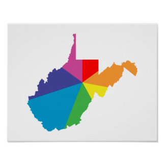 west virginia color burst poster