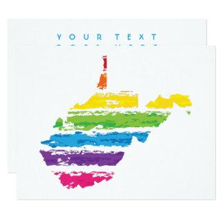 west virginia color strokes card