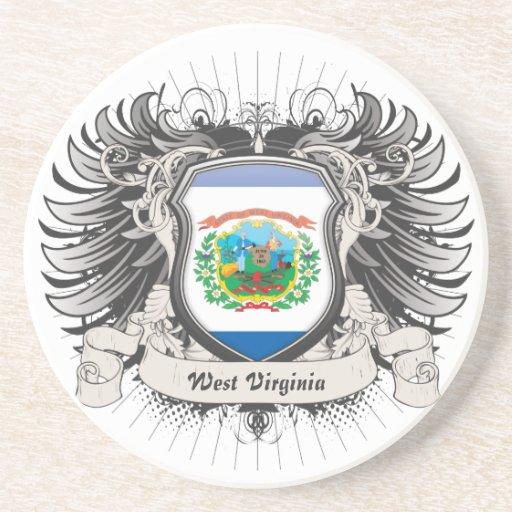 West Virginia Crest Beverage Coasters