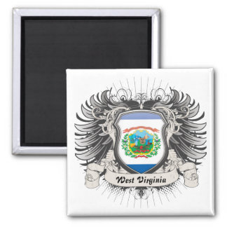 West Virginia Crest Refrigerator Magnet
